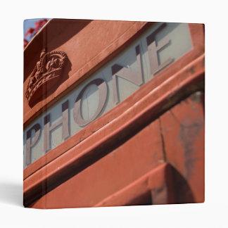 Red telephone box 3 ring binder