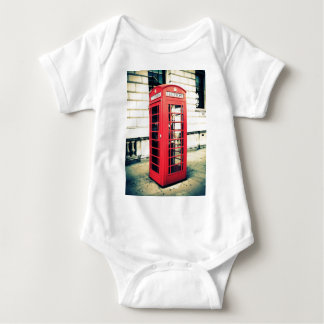red telephone box baby bodysuit