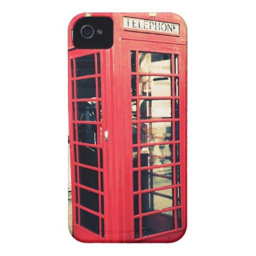 red telephone box Case-Mate iPhone 4 case