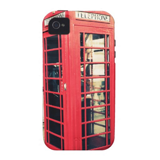 red telephone box Case-Mate iPhone 4 cases