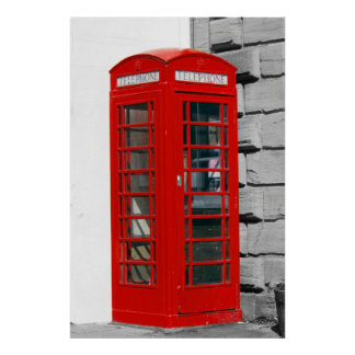 Red Telephone Box London Poster