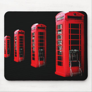 Red Telephone Box Mouse Pad