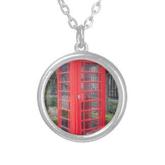 Red telephone box custom necklace