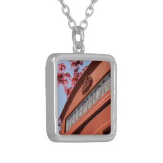 Red telephone box personalized necklace