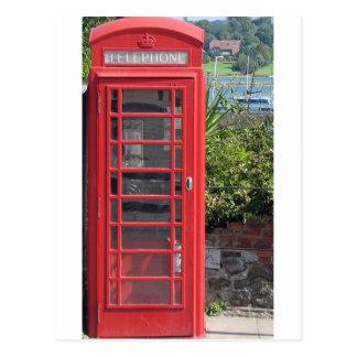 Red Telephone box Postcard