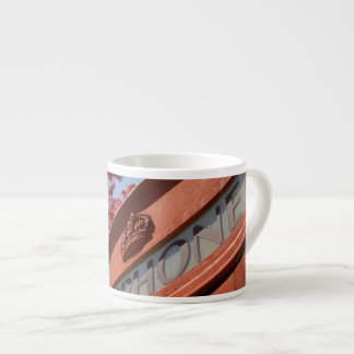 Red telephone box espresso mug