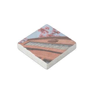 Red telephone box stone magnet