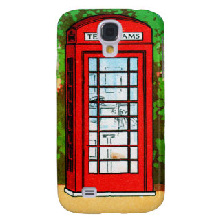 Red Telephone Box UK Vintage Kitsch Galaxy S4 Case
