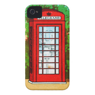 Red Telephone Box UK Vintage Kitsch iPhone 4 Case-Mate Case