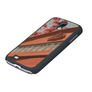 Red telephone box carved® maple galaxy s4 slim case
