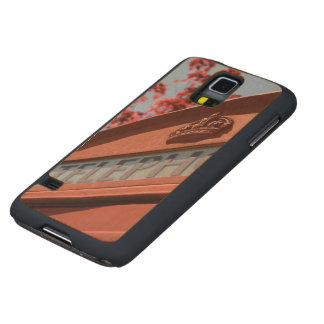 Red telephone box carved® maple galaxy s5 slim case