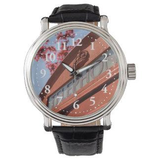Red telephone box wrist watch