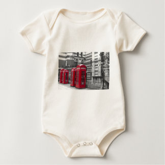 Red Telephone boxes Baby Bodysuit