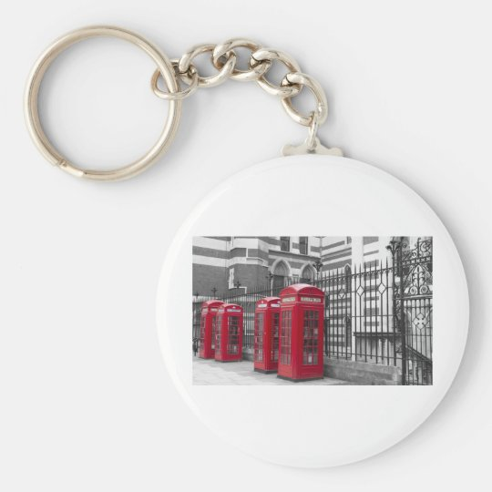 Red Telephone boxes Keychain