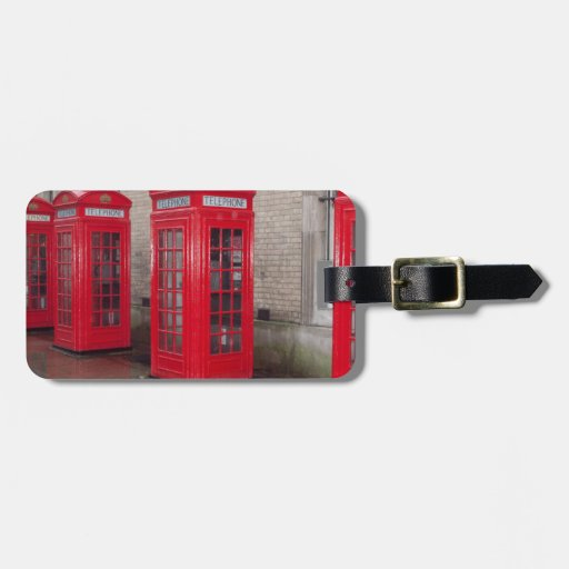 red telephone boxes tags for bags
