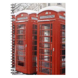 Red telephones near Big Ben Notebook