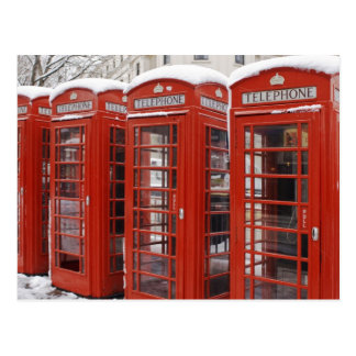 Red telephones near Big Ben Postcard