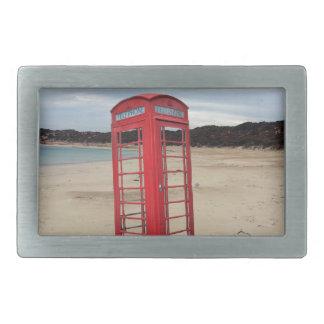 Red_Telphone_Box,_ Rectangular Belt Buckle