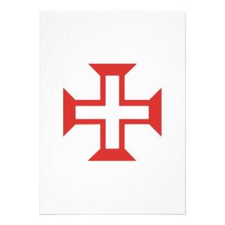 Red Templar Cross Custom Invitation