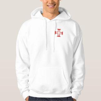 Red Templar Cross Hoodie