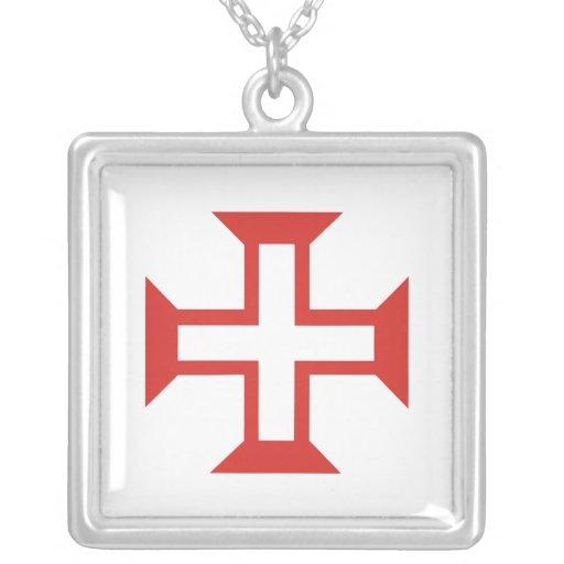 Red Templar Cross Necklace