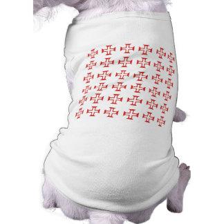Red Templar Cross pattern Doggie Shirt