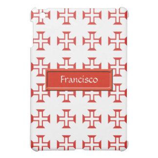 Red Templar Cross pattern iPad Mini Cases