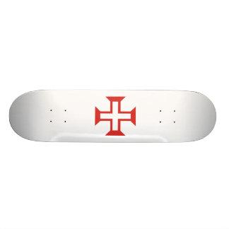 Red Templar Cross Skateboard Deck