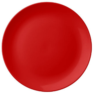 Red Template Dinner Plate