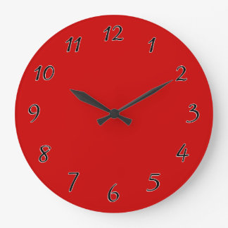 Red Template Large Clock