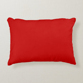 Red Template Accent Pillow