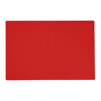 Red Template Laminated Placemat