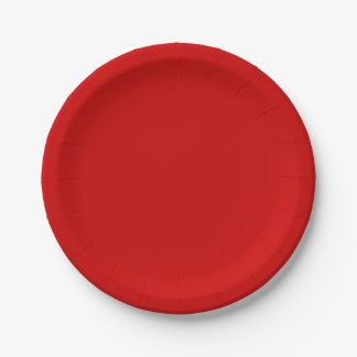 Red Template Paper Plate