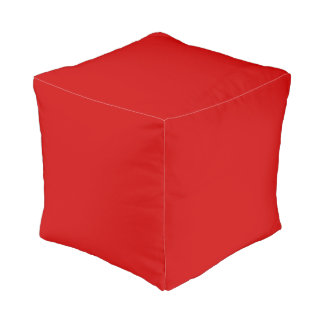 Red Template Pouf