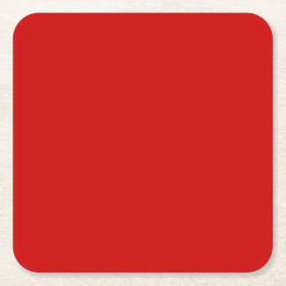 Red Template Square Paper Coaster