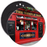 Red Temple Bar pub in Dublin 6 Inch Round Button
