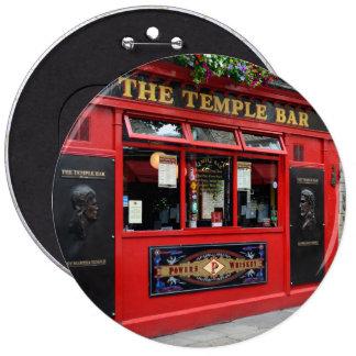 Red Temple Bar pub in Dublin button