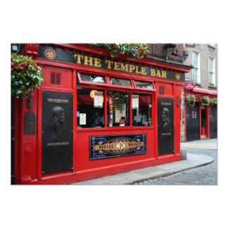 Red Temple Bar pub in Dublin Photo Print