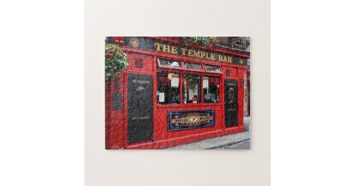 Red Temple Bar Pub In Dublin Puzzle Zazzle Com