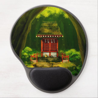 Red Temple Gel Mousepad
