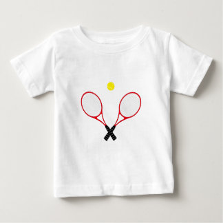 Red Tennis Rackets  Baby Tee Shirt