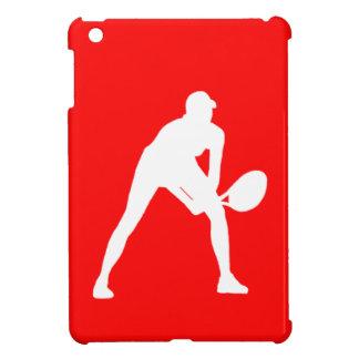 Red Tennis Silhouette iPad Mini Case