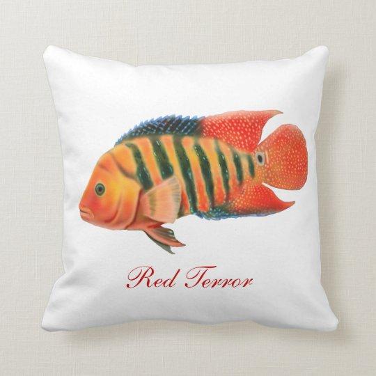 Red Terror Cichlid Fish Pillow