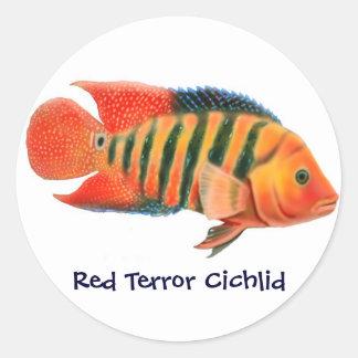 Red Terror Cichlid Sticker