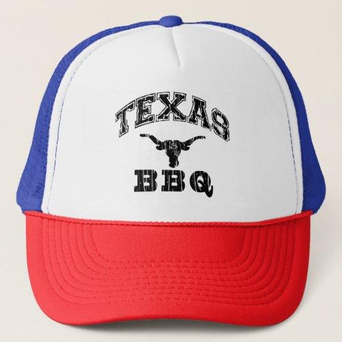Red Texas Custom Distressed Austin BBQ Business Trucker Hat
