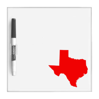 Red Texas Dry Erase Board