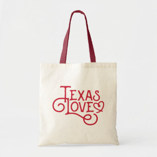 Red Texas Love Tote Bag