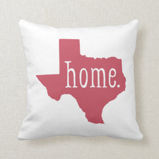 Red Texas State Home and Bandana Pattern Pillow