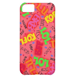 Red Text Art Symbols Words Case For iPhone 5C