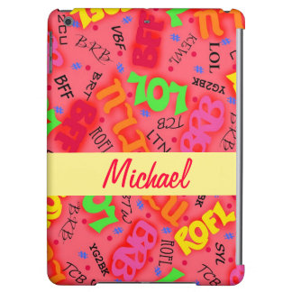 Red Text Art Symbols Words iPad Air Cover